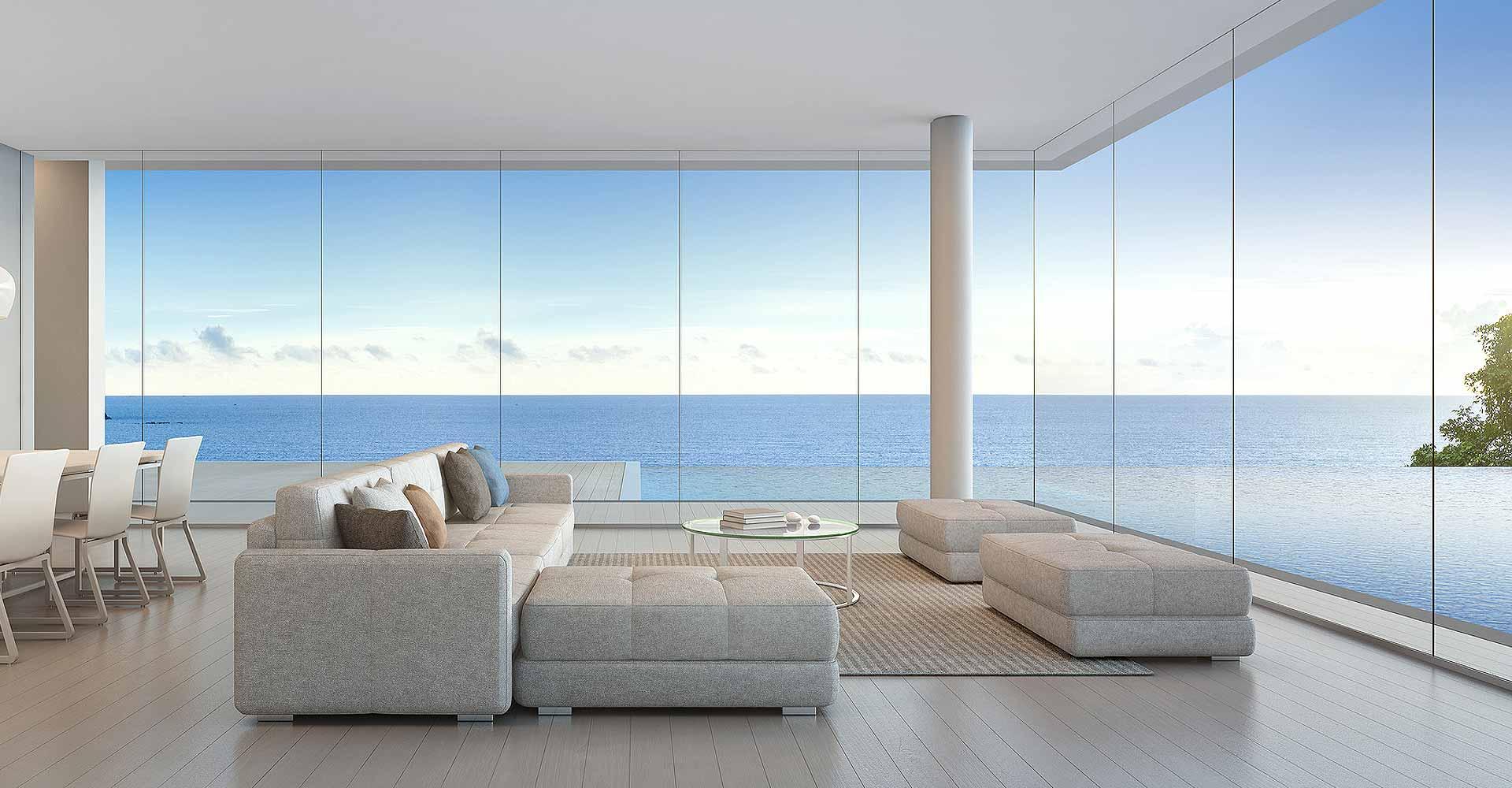 Ventajas tener cortinas cristal en verano